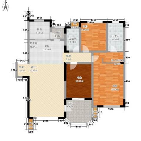 中海水岸馨都3室0厅2卫1厨171.00㎡户型图