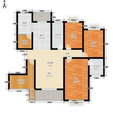 天城湖光山色3室0厅2卫1厨163.00㎡户型图