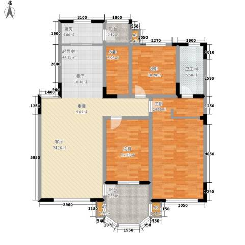 中海水岸馨都4室0厅1卫1厨126.00㎡户型图