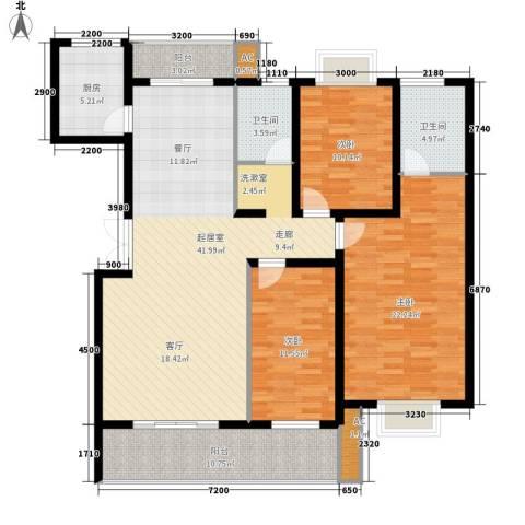天城湖光山色3室0厅2卫1厨140.00㎡户型图