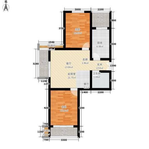 融鑫逸景2室0厅1卫1厨94.00㎡户型图
