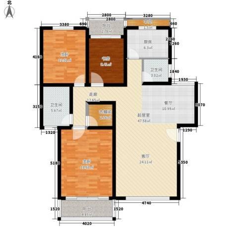 盛世康城3室0厅2卫1厨131.00㎡户型图