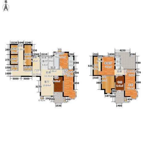中海水岸馨都5室0厅3卫1厨265.40㎡户型图