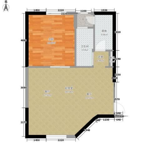 自由.COM1室0厅1卫1厨64.00㎡户型图