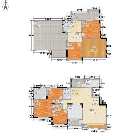 南郡水云天5室0厅3卫1厨330.00㎡户型图