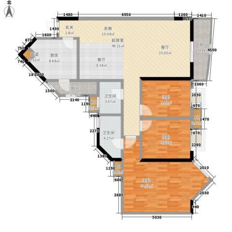 恒荔湾畔3室0厅2卫1厨120.00㎡户型图
