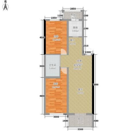 宏胜花园2室0厅1卫1厨70.56㎡户型图