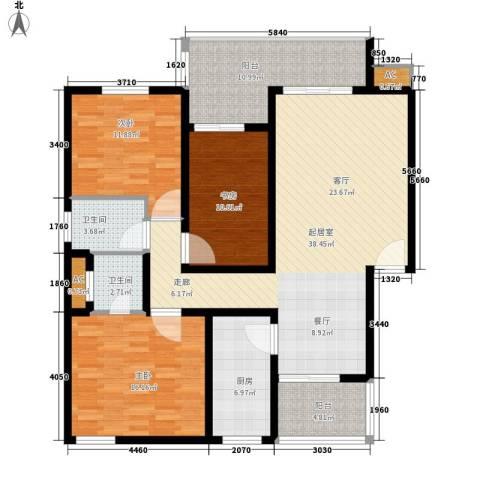 盛世康城3室0厅2卫1厨122.00㎡户型图
