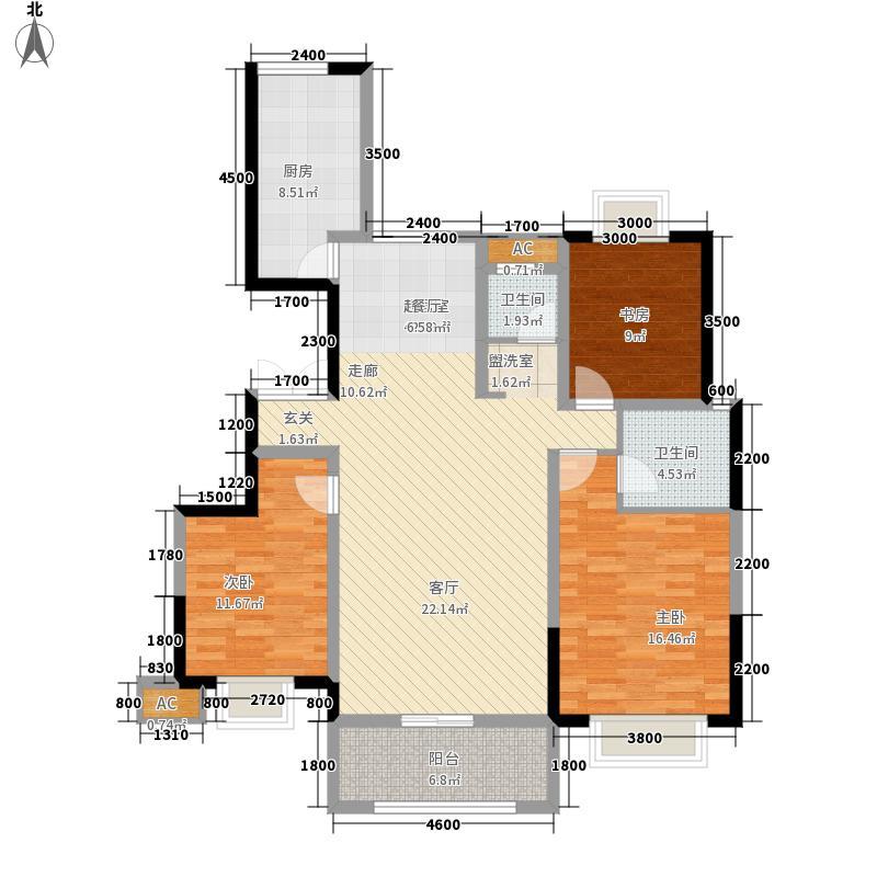 御锦城131.30㎡B8户型3室2厅