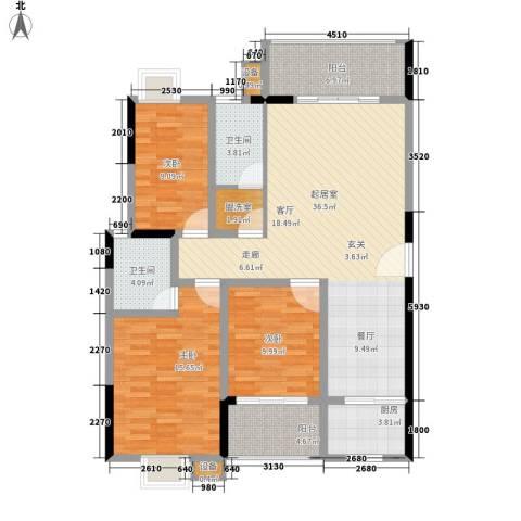 西源鑫大厦3室0厅2卫1厨141.00㎡户型图