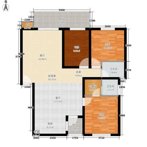 盛世康城3室0厅2卫0厨121.00㎡户型图