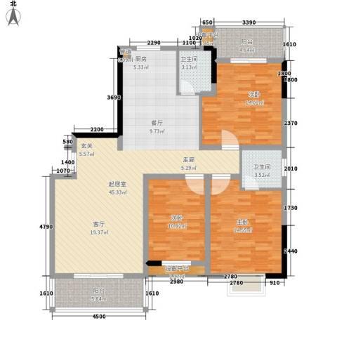 鑫天山城明珠3室0厅2卫0厨147.00㎡户型图