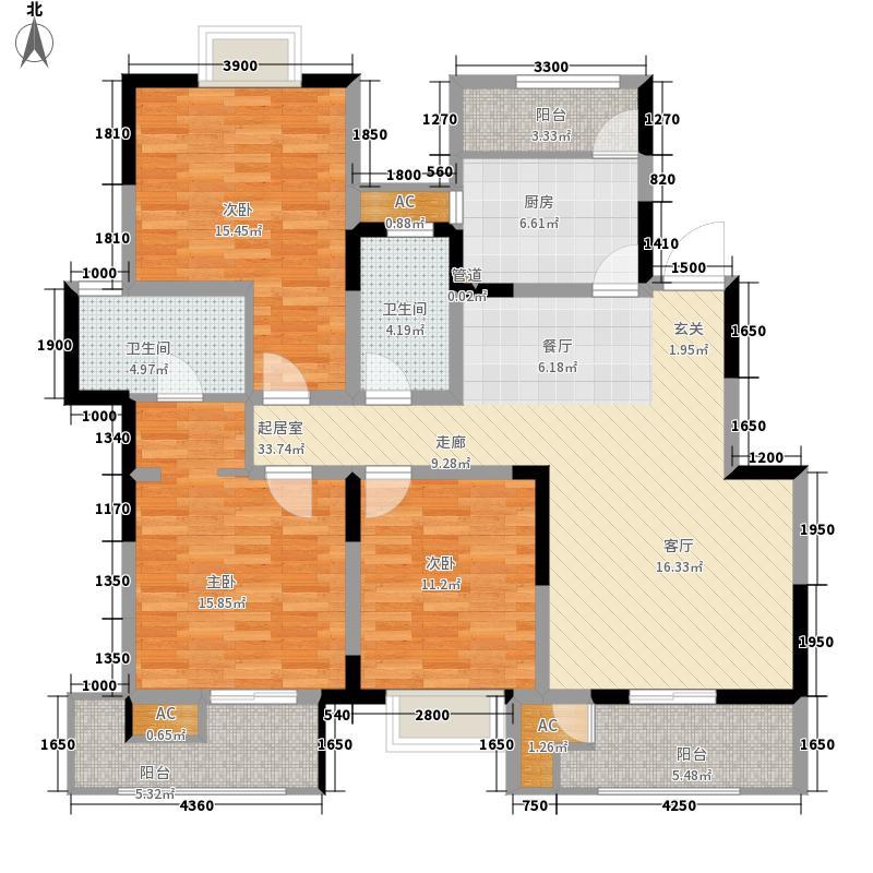 御锦城138.75㎡B2户型2室2厅
