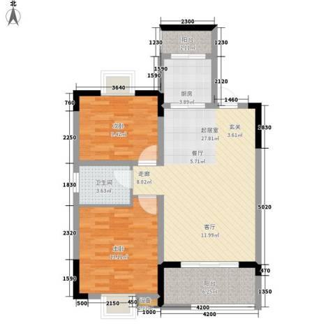 西源鑫大厦2室0厅1卫1厨95.00㎡户型图