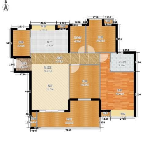 绿湖豪城1室0厅2卫1厨138.00㎡户型图