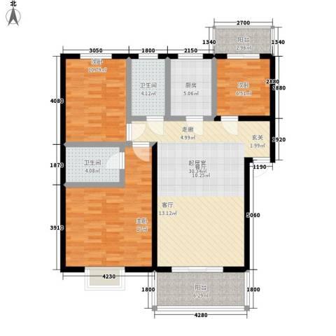 绿荫家园3室0厅2卫1厨104.00㎡户型图