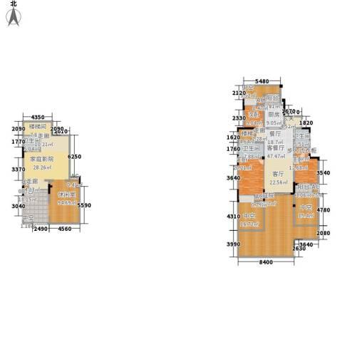 金科廊桥水岸3室1厅3卫1厨332.13㎡户型图