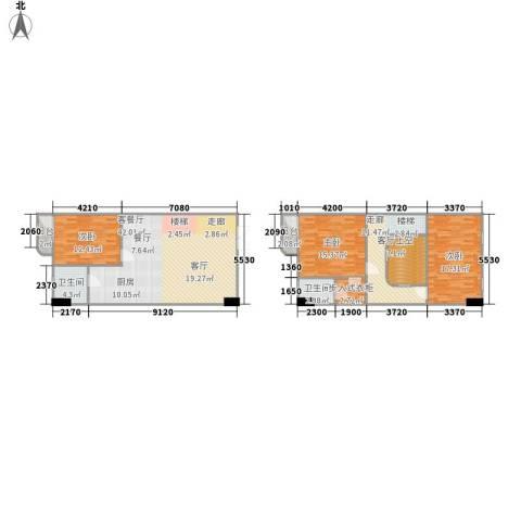 联邦东方明珠3室1厅2卫0厨119.79㎡户型图
