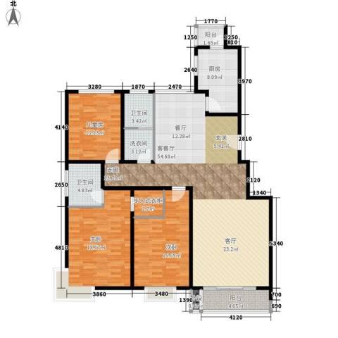 水云间蓝湾3室1厅2卫1厨145.00㎡户型图