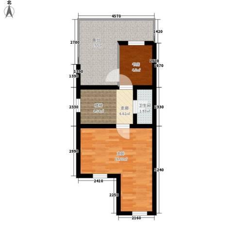 锦园别墅2室0厅1卫0厨60.00㎡户型图