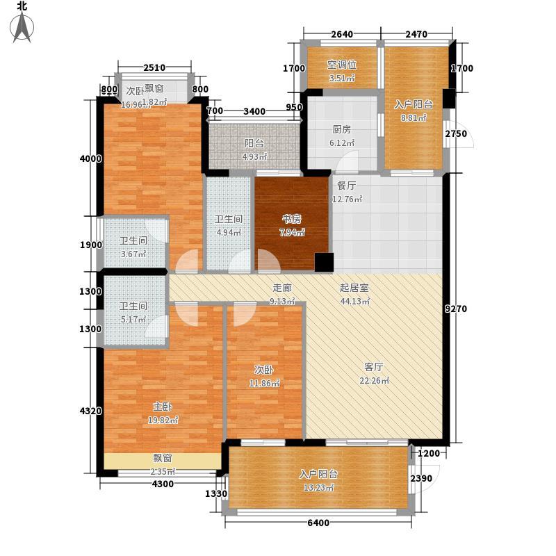 御海阳光186.54㎡12栋3-27层04户型