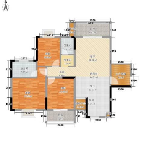 鑫天山城明珠3室0厅2卫0厨163.00㎡户型图