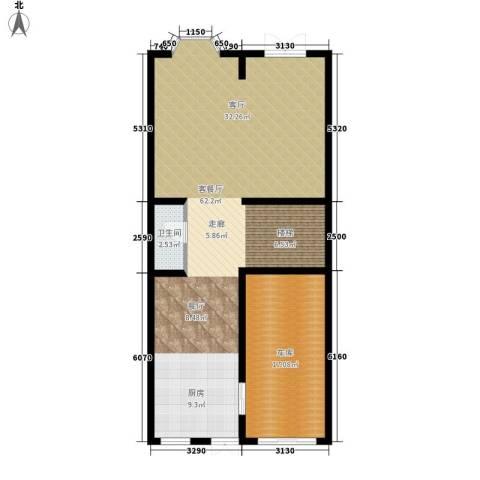 锦园别墅1厅1卫0厨113.00㎡户型图
