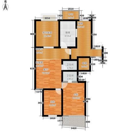 盈峰翠邸2室1厅2卫1厨112.00㎡户型图
