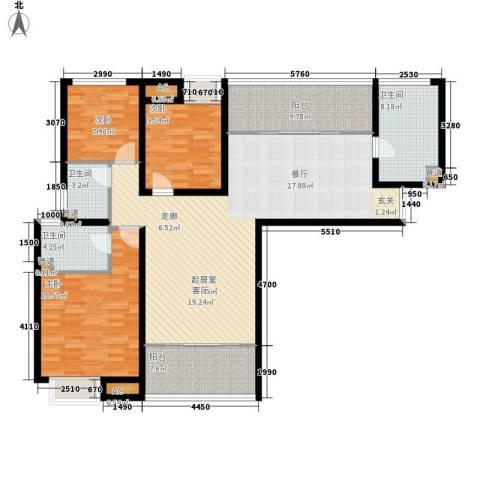 保利花园3室0厅3卫0厨161.00㎡户型图