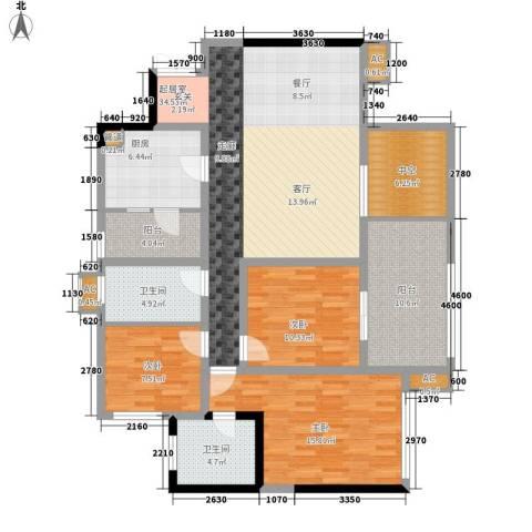 向阳小区3室0厅2卫1厨154.00㎡户型图