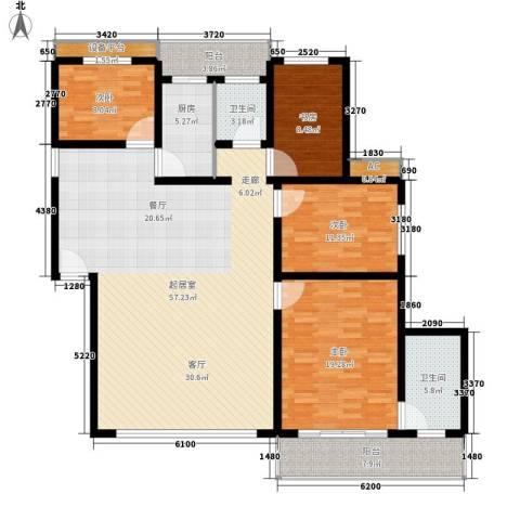 盛世康城4室0厅2卫1厨150.00㎡户型图