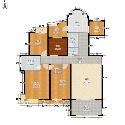 联发江岸汇景1室0厅2卫1厨168.00㎡户型图