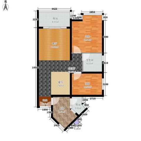 祈福新村活力花园2室1厅1卫1厨111.00㎡户型图