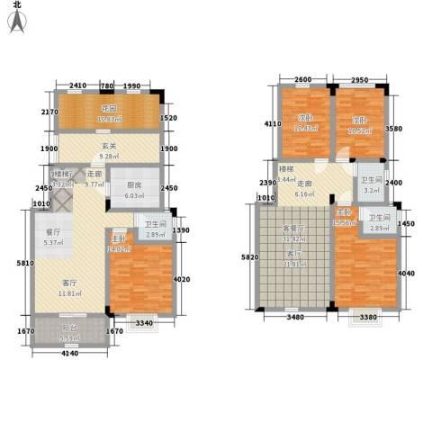 山水霖城4室2厅3卫1厨152.92㎡户型图
