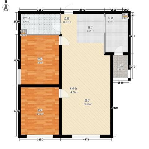 滨东小区2室0厅1卫1厨89.86㎡户型图