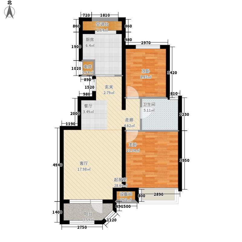 金地艺境92.00㎡三期小高层户型2室2厅