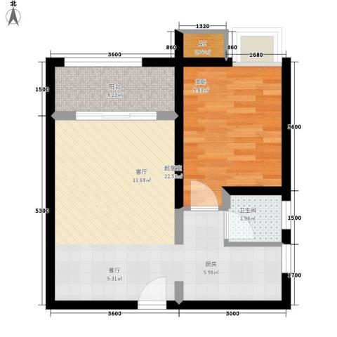 恒盛世家1室0厅1卫0厨53.00㎡户型图