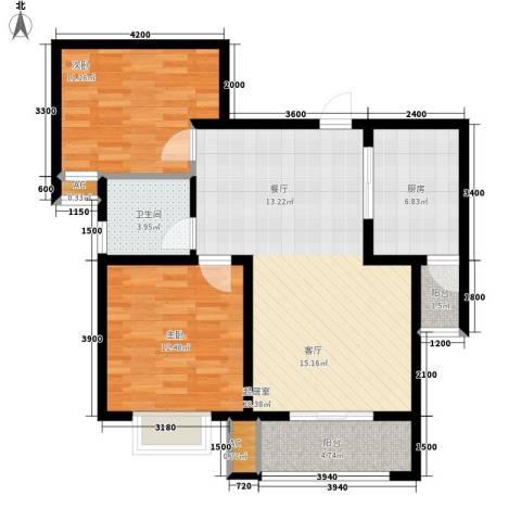 清渭公馆2室0厅1卫1厨93.00㎡户型图
