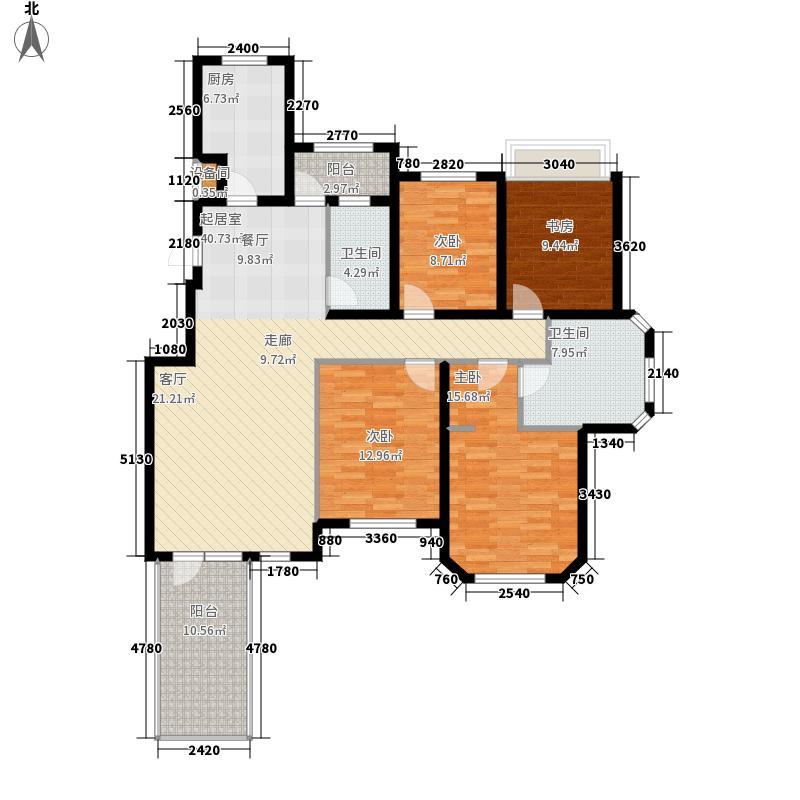 金地艺境三期7层洋房二层户型