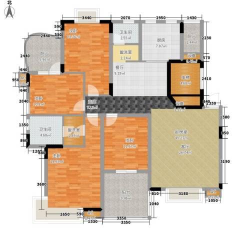 中建桂苑4室0厅2卫1厨163.00㎡户型图