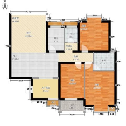 恒盛世家3室0厅2卫1厨127.00㎡户型图