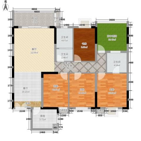 星雨心苑4室1厅3卫1厨174.00㎡户型图