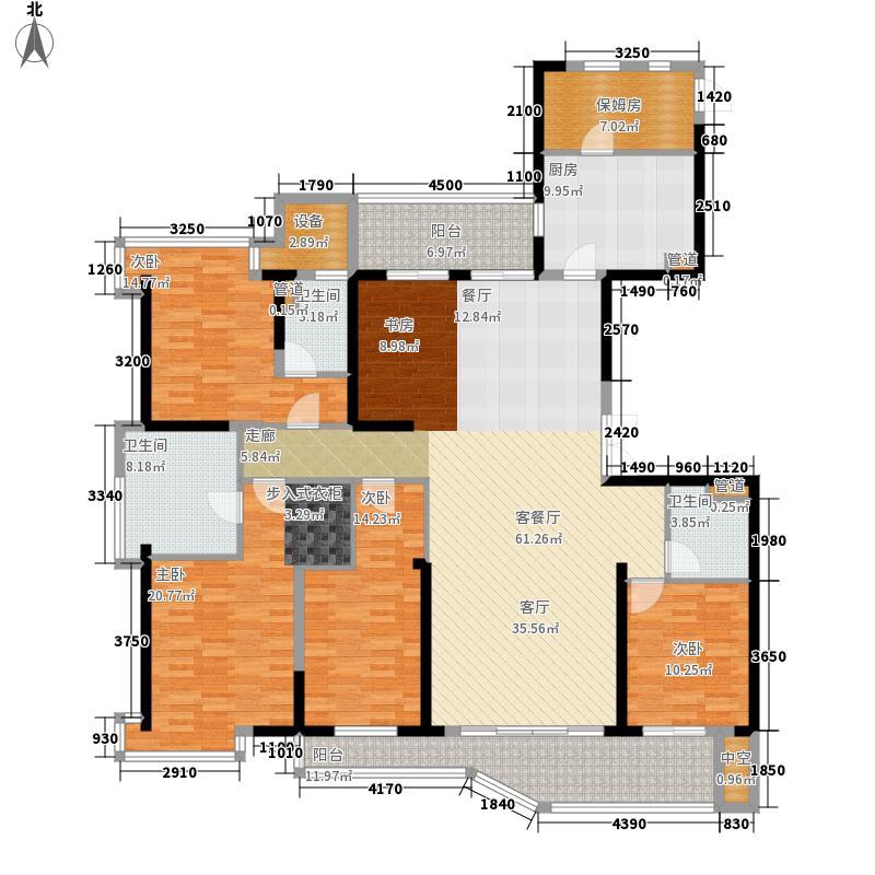 三盛国际公园209.00㎡长岛区16号楼精装户型