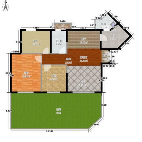 祈福新村活力花园3室1厅1卫1厨192.87㎡户型图