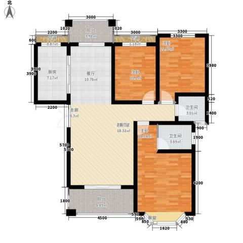 长房西郡3室0厅2卫1厨122.00㎡户型图