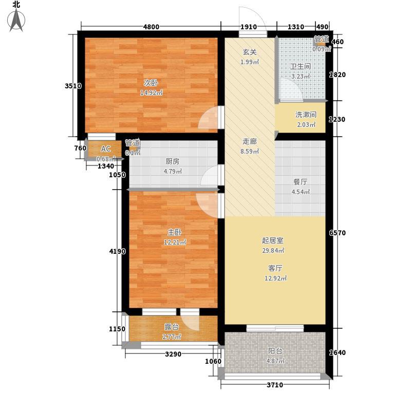 世奥湾103.38㎡4号楼二单元面积10338m户型