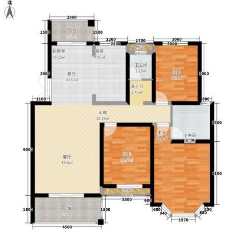 长房西郡3室0厅2卫0厨124.00㎡户型图