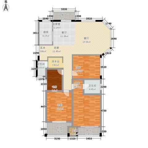 长房西郡4室0厅2卫1厨154.00㎡户型图