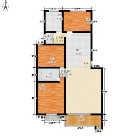 银晟花园3室0厅2卫1厨140.00㎡户型图