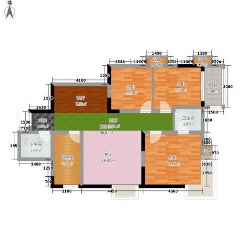 飞天花园小区3室0厅2卫0厨120.00㎡户型图